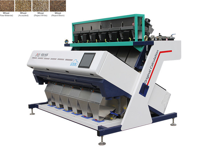 1220KG sorter Machine For Wheat , High Frequency Ejectors Amd Color Sorter