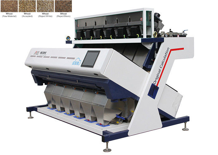 RC6 Wheat Color Sorter Machine High - Speed Of Scanning Ultra High Precision